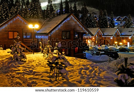 Decorated house - stock photo