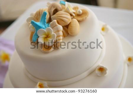 Decorated Wedding cake - stock photo