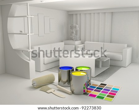 Decorating tools and materials - stock photo