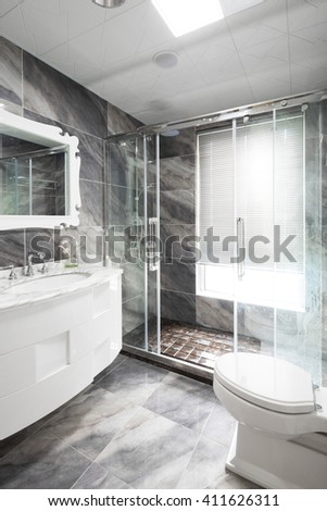decoration and design of modern bathroom