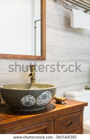 decoration and facility in modern bathroom