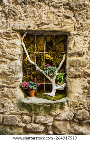 Decoration Beautiful old streets Provence, France - stock photo