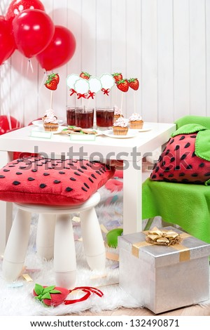 Decoration for birthday - stock photo