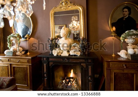 decoration in interior - stock photo