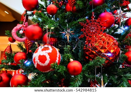 decoration of Christmas tree