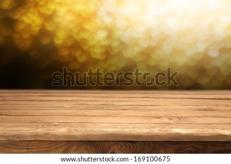 decoration of desk and gold space  - stock photo