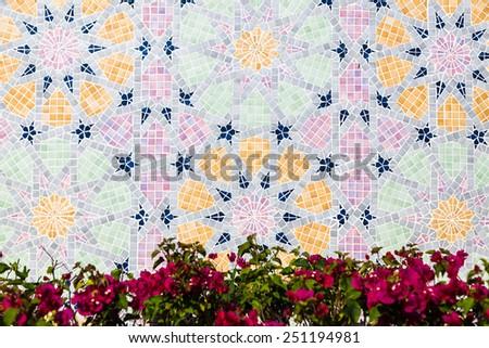Decoration of Jame'asr Hassanil Bolkiah Mosque in Bandar Seri Begawan, Brunei - stock photo