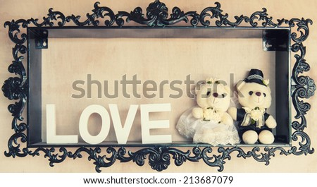 Decoration of love - stock photo