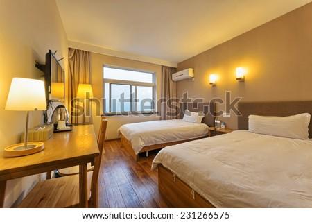 decoration of modern room interior - stock photo