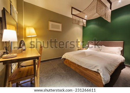 decoration of modern room interior - stock photo