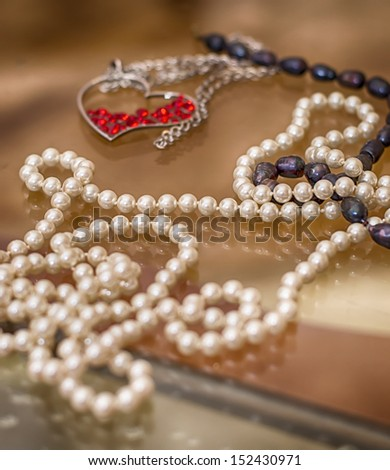 decoration of pearls