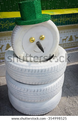 Tire s stock images royalty free images vectors for Snowmen made from tires