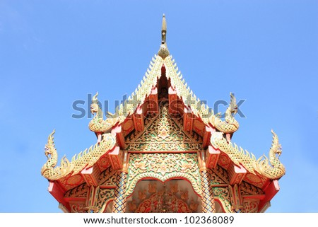 Decoration of Thai temple in Chiang Mai, Thailand