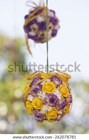 Decoration of wedding flowers - stock photo