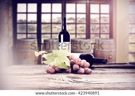 decoration of wine  - stock photo
