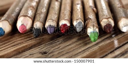 decoration of wood  - stock photo