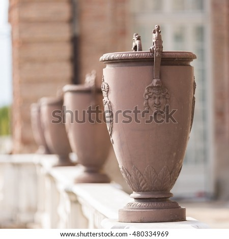 decoration on the vase surface