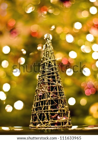 decoration representing christmas tree - stock photo