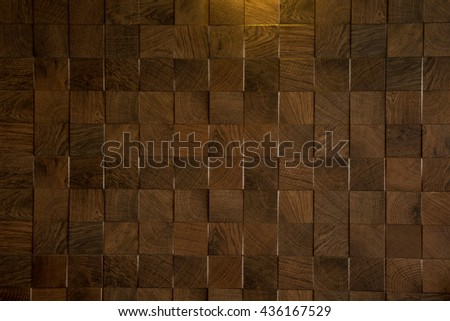 Decoration  tile wooden blocks - Wood paneling pattern - seamless background - wood wall - wood paneling - Decorative paneling pattern - wood texture - stock photo