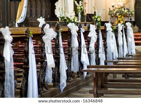 Decoration wedding church - stock photo