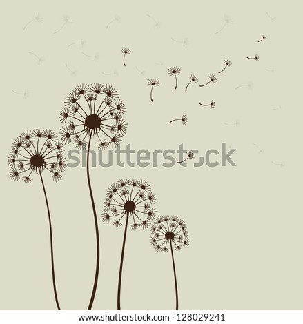 Decoration with dandelions. - stock photo