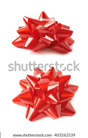 Gift bow isolated stock images royalty free images vectors decorational red ribbon gift bow isolated over the white background set collection of two diffirent negle Image collections
