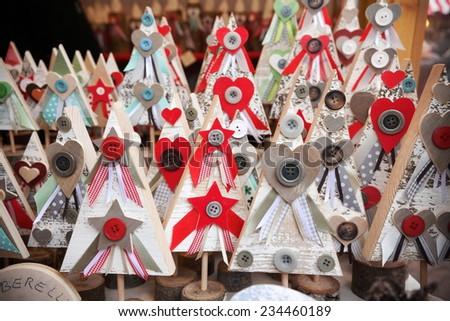 Decorations Christmas gifts and Christmas atmosphere - stock photo