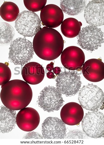 decorations for Christmas trees - stock photo