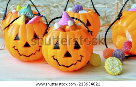 Decorations for Halloween scary beautiful in the holiday season.