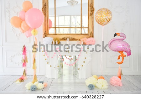 Decorations Holiday Party Balloons Birthday Party Stock Photo