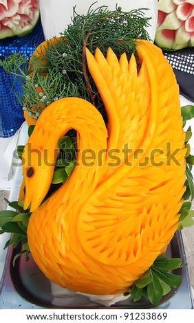 decorations from fruits - stock photo