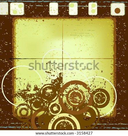 decorative abstract grunge design, abstract circles