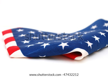 decorative America flag in July 4 - stock photo