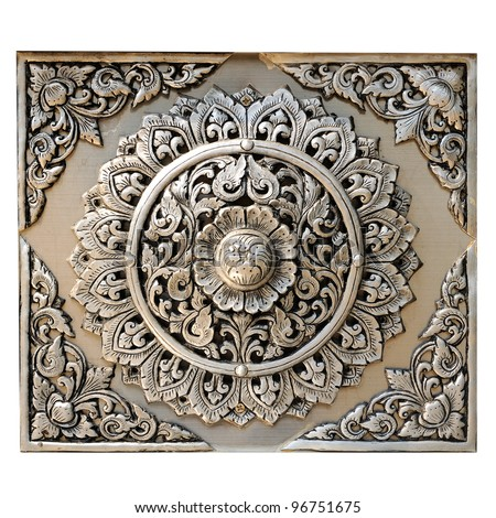 Decorative Art of Lanna Thai : Engraving of the silver value.