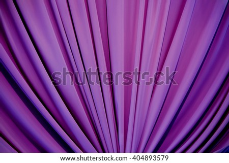 Decorative background draped with lilac fabric - stock photo