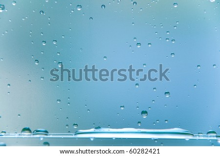 Decorative background from water drops - stock photo