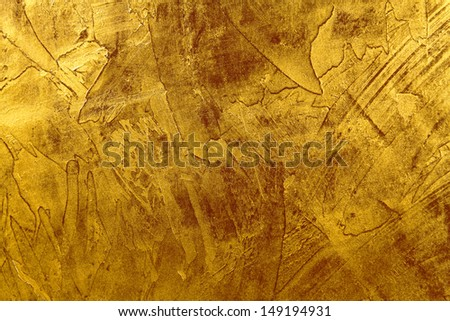 Decorative background gold abstract - stock photo
