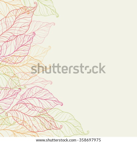 Decorative background with autumn leaves