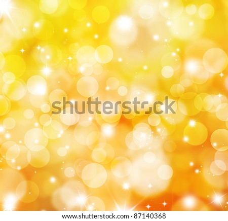 Decorative background with bokeh lights and sparkling stars
