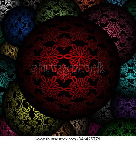 Decorative balls as background - stock photo