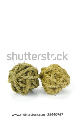 Decorative balls isolated against a white background