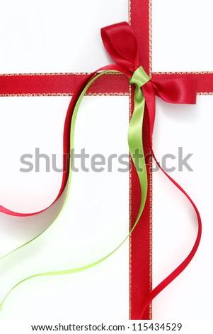 Decorative bow and ribbon - stock photo