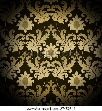Decorative brown renaissance background - stock photo