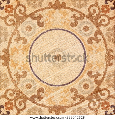 Decorative brown sand stone tile background - stock photo