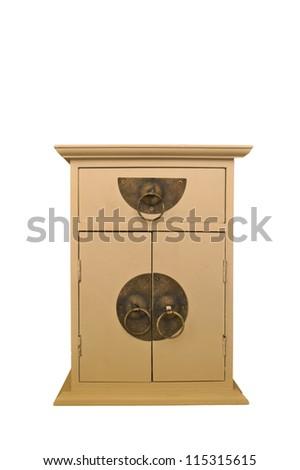 Decorative cabinet isolated on white background - stock photo