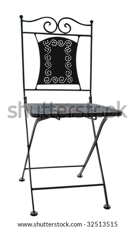 Decorative Chair isolated with clipping path - stock photo