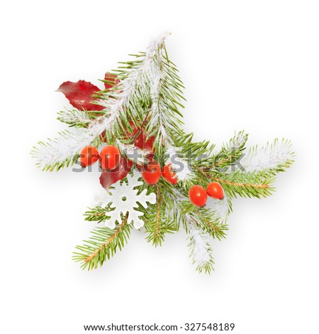 Decorative Christmas/New Year branch / bouquet