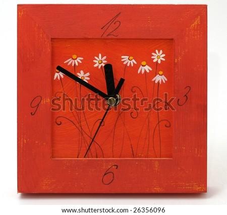 Decorative clock - stock photo