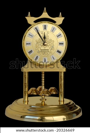 Decorative clock showing five minutes to twelve. New Year coming soon! Clipping paths included.
