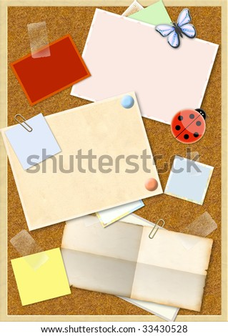 Decorative collage - bright vertical background